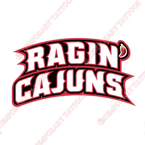 Louisiana Ragin Cajuns Customize Temporary Tattoos Stickers NO.4843