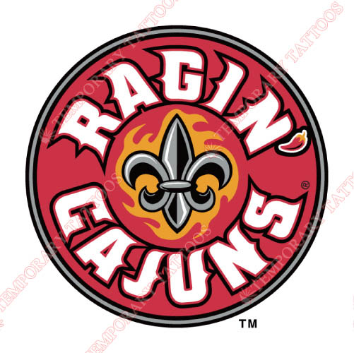 Louisiana Ragin Cajuns Customize Temporary Tattoos Stickers NO.4844