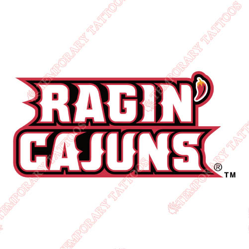 Louisiana Ragin Cajuns Customize Temporary Tattoos Stickers NO.4847