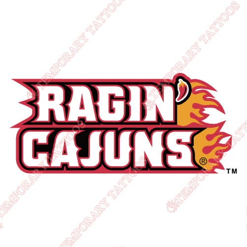 Louisiana Ragin Cajuns Customize Temporary Tattoos Stickers NO.4849