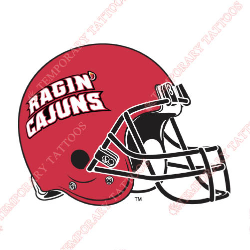 Louisiana Ragin Cajuns Customize Temporary Tattoos Stickers NO.4850