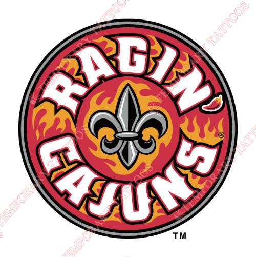 Louisiana Ragin Cajuns Customize Temporary Tattoos Stickers NO.4851