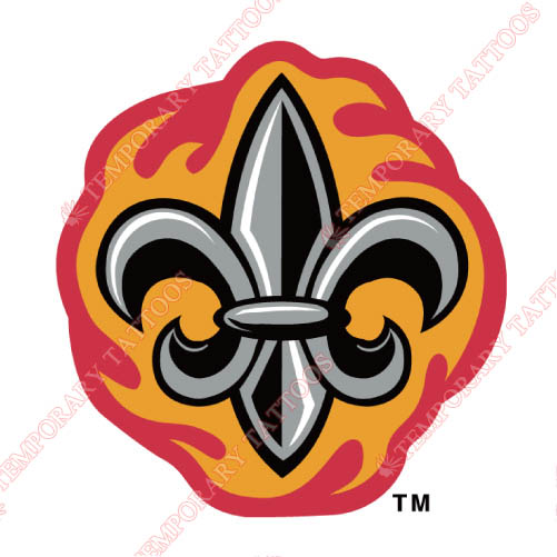 Louisiana Ragin Cajuns Customize Temporary Tattoos Stickers NO.4852