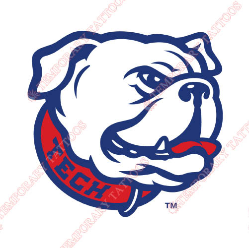 Louisiana Tech Bulldogs Customize Temporary Tattoos Stickers NO.4854