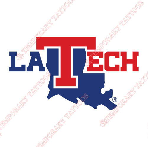 Louisiana Tech Bulldogs Customize Temporary Tattoos Stickers NO.4855