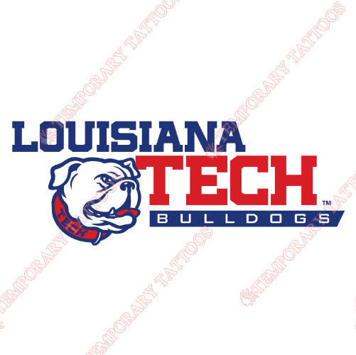 Louisiana Tech Bulldogs Customize Temporary Tattoos Stickers NO.4856