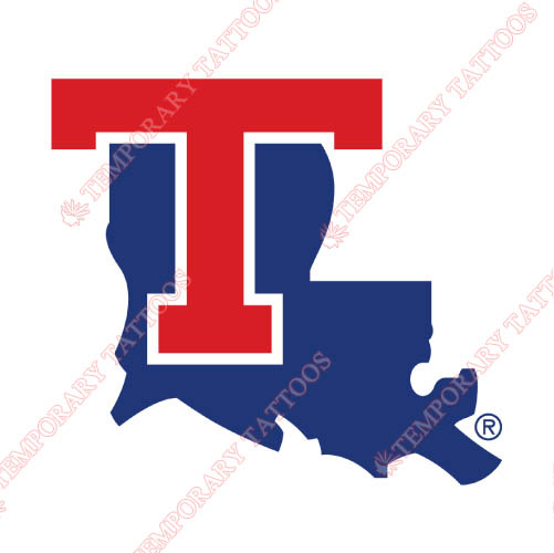 Louisiana Tech Bulldogs Customize Temporary Tattoos Stickers NO.4857