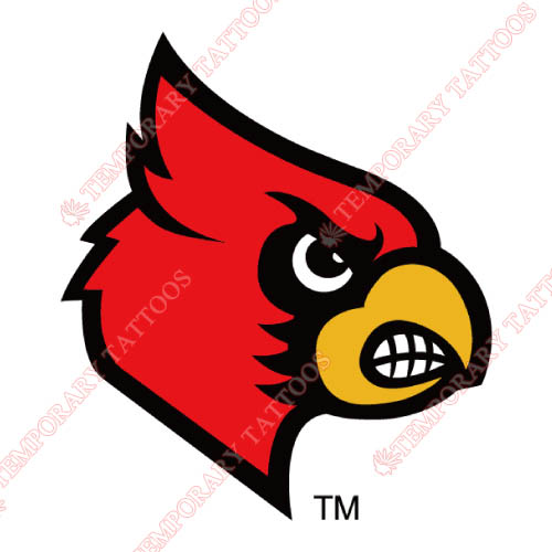 Louisville Cardinals Customize Temporary Tattoos Stickers NO.4861