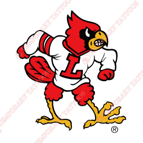 Louisville Cardinals Customize Temporary Tattoos Stickers NO.4862