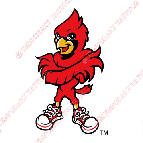 Louisville Cardinals Customize Temporary Tattoos Stickers NO.4863