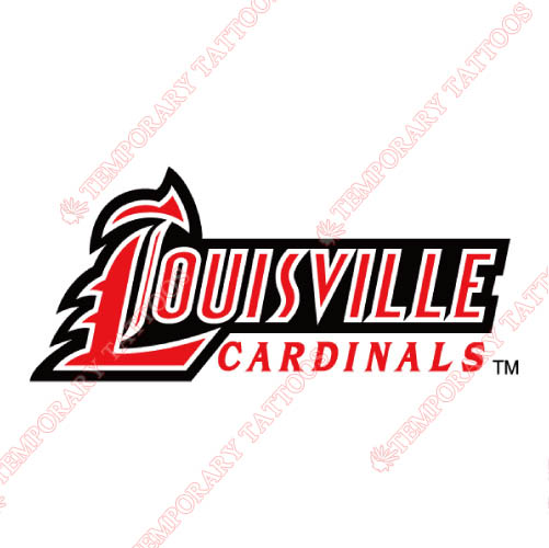 Louisville Cardinals Customize Temporary Tattoos Stickers NO.4865