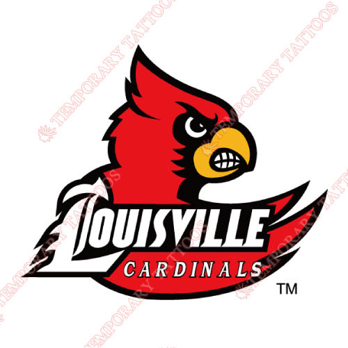 Louisville Cardinals Customize Temporary Tattoos Stickers NO.4866