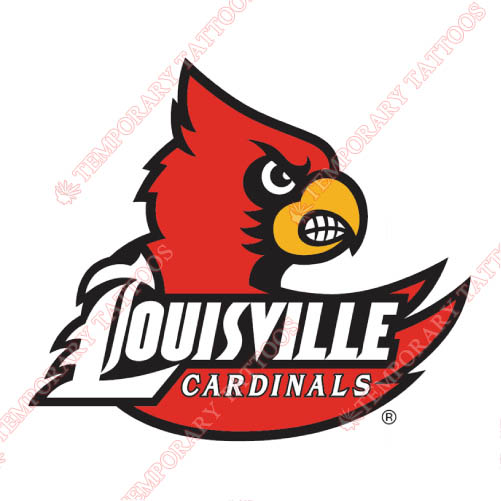 Louisville Cardinals Customize Temporary Tattoos Stickers NO.4868