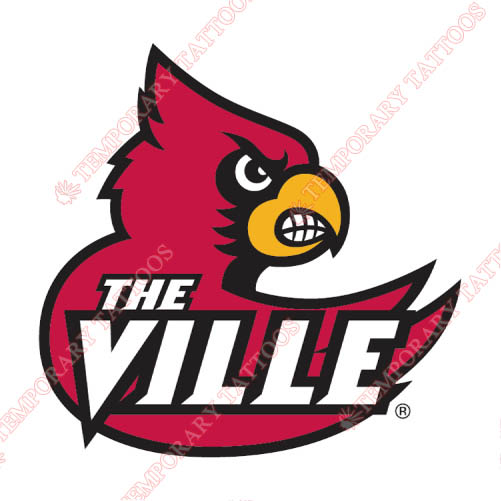 Louisville Cardinals Customize Temporary Tattoos Stickers NO.4869