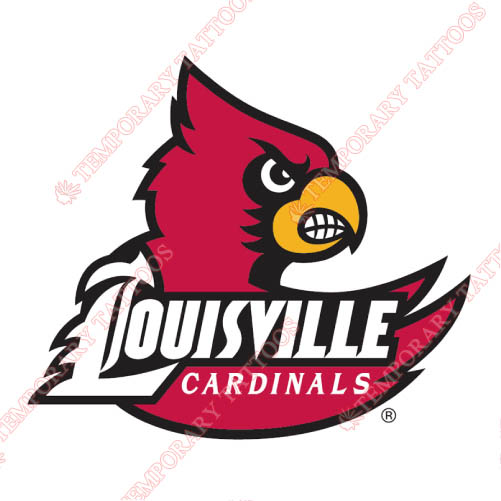 Louisville Cardinals Customize Temporary Tattoos Stickers NO.4870