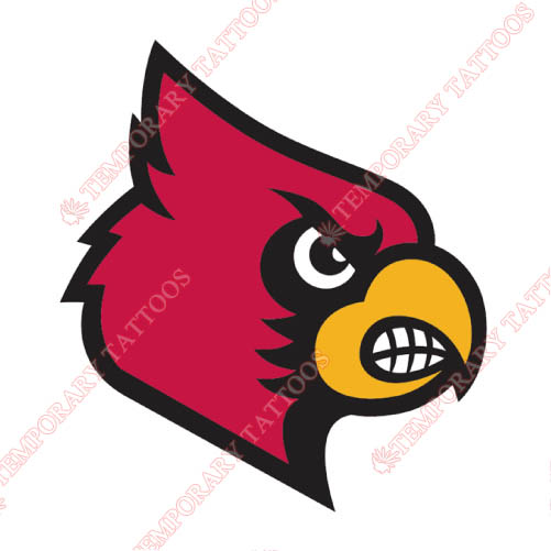 Louisville Cardinals Customize Temporary Tattoos Stickers NO.4873