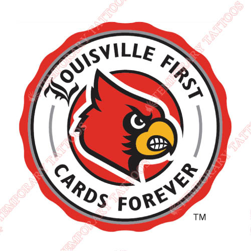Louisville Cardinals Customize Temporary Tattoos Stickers NO.4875
