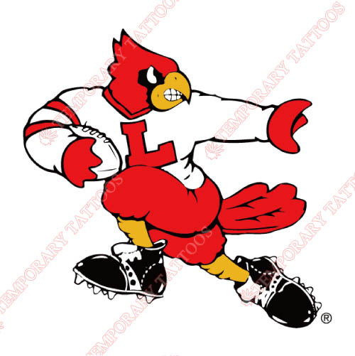 Louisville Cardinals Customize Temporary Tattoos Stickers NO.4876
