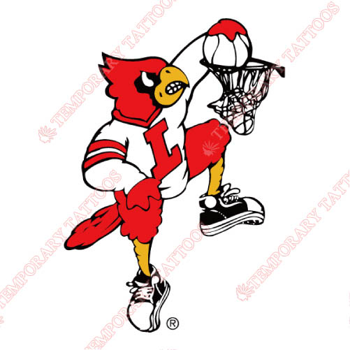 Louisville Cardinals Customize Temporary Tattoos Stickers NO.4877