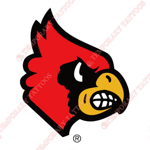 Louisville Cardinals Customize Temporary Tattoos Stickers NO.4878