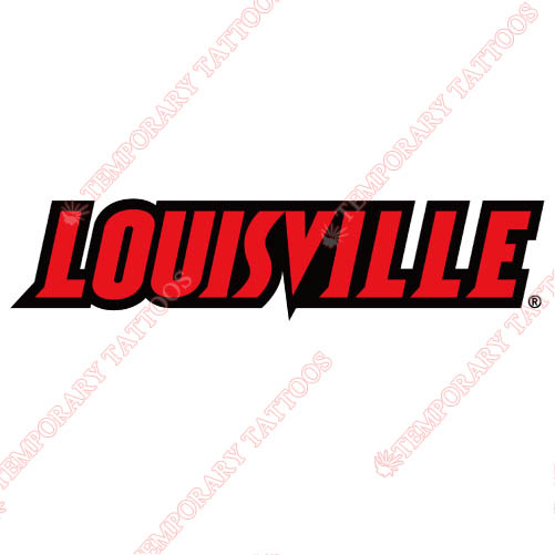 Louisville Cardinals Customize Temporary Tattoos Stickers NO.4880