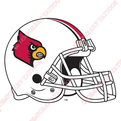 Louisville Cardinals Customize Temporary Tattoos Stickers NO.4881