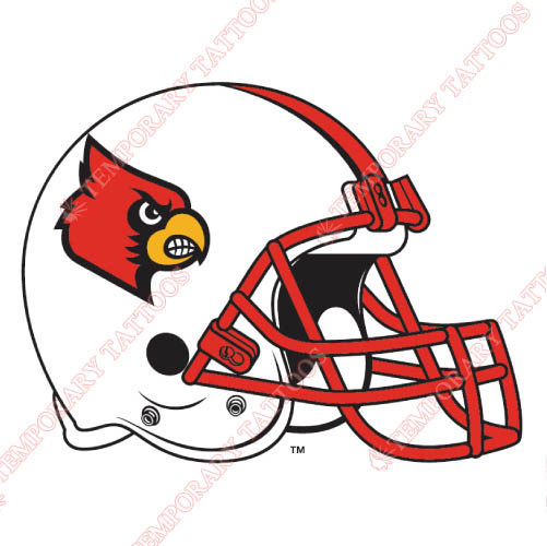 Louisville Cardinals Customize Temporary Tattoos Stickers NO.4882