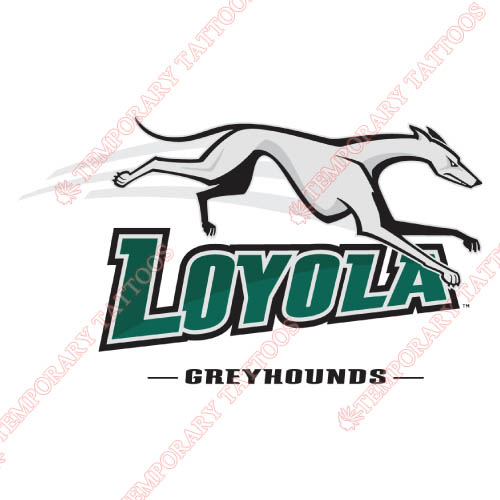 Loyola Maryland Greyhounds Customize Temporary Tattoos Stickers NO.4883