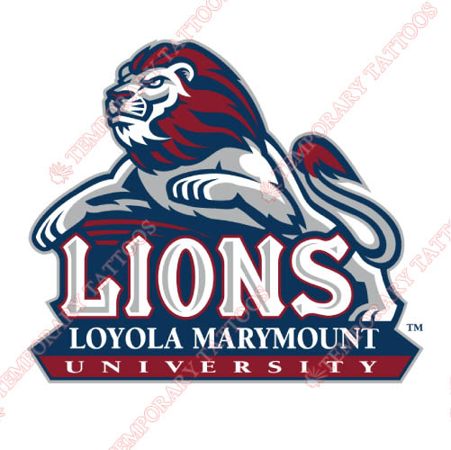 Loyola Marymount Lions Customize Temporary Tattoos Stickers NO.4894