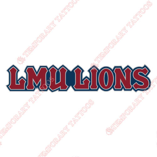 Loyola Marymount Lions Customize Temporary Tattoos Stickers NO.4899