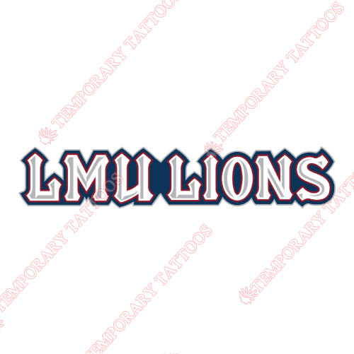 Loyola Marymount Lions Customize Temporary Tattoos Stickers NO.4900