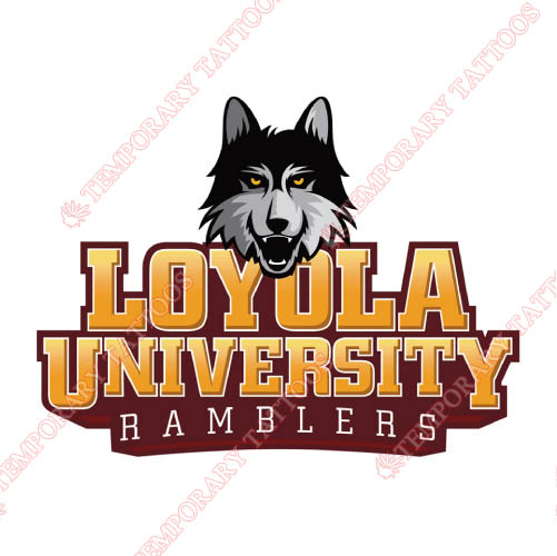 Loyola Ramblers Customize Temporary Tattoos Stickers NO.4905