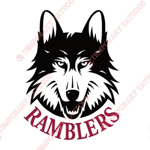 Loyola Ramblers Customize Temporary Tattoos Stickers NO.4906