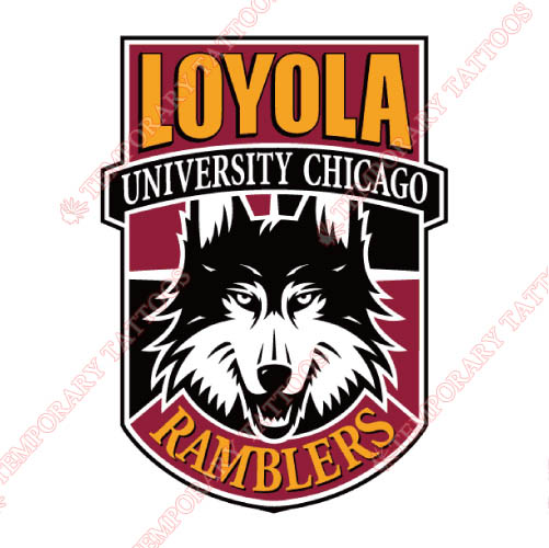 Loyola Ramblers Customize Temporary Tattoos Stickers NO.4907