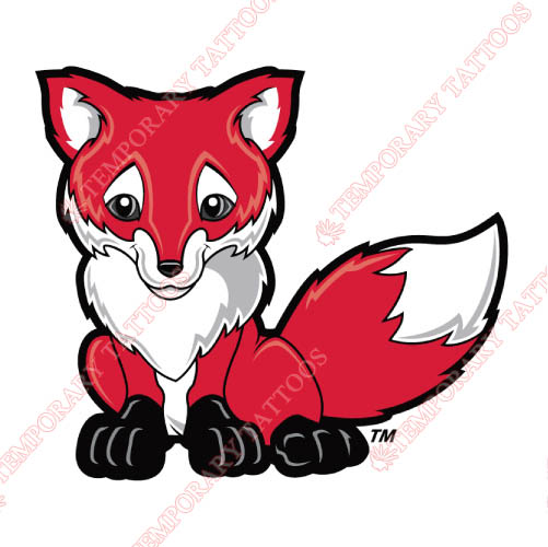 Marist Red Foxes Customize Temporary Tattoos Stickers NO.4950