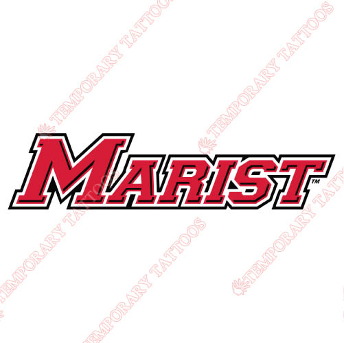 Marist Red Foxes Customize Temporary Tattoos Stickers NO.4951
