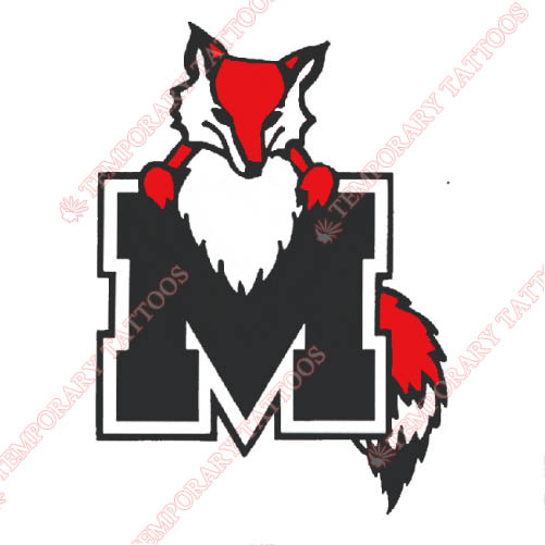 Marist Red Foxes Customize Temporary Tattoos Stickers NO.4955