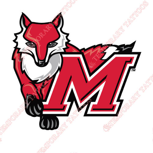 Marist Red Foxes Customize Temporary Tattoos Stickers NO.4956