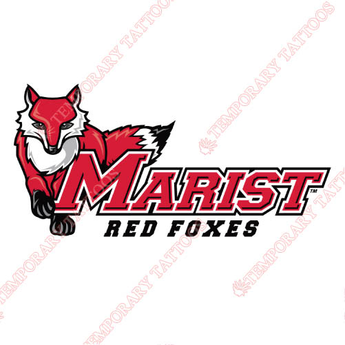 Marist Red Foxes Customize Temporary Tattoos Stickers NO.4957