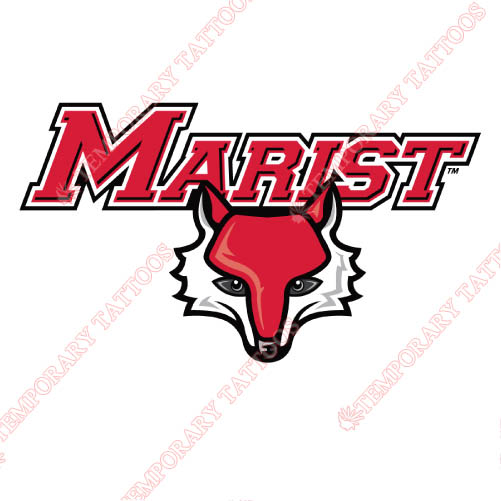 Marist Red Foxes Customize Temporary Tattoos Stickers NO.4958