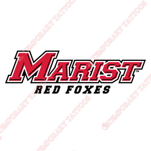 Marist Red Foxes Customize Temporary Tattoos Stickers NO.4959