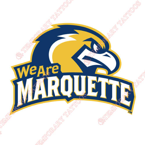 Marquette Golden Eagles Customize Temporary Tattoos Stickers NO.4961