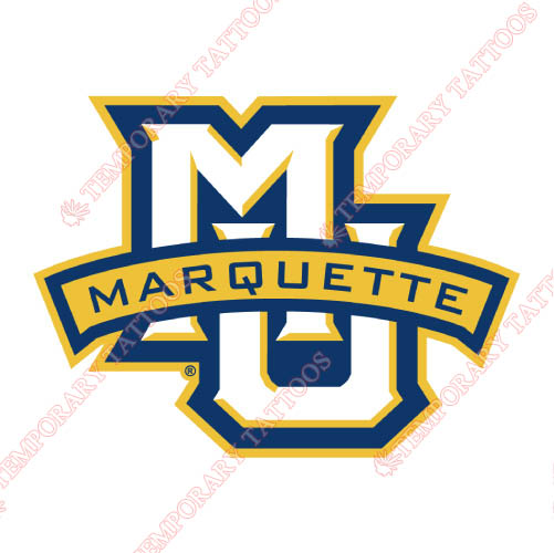 Marquette Golden Eagles Customize Temporary Tattoos Stickers NO.4962