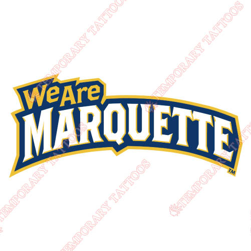Marquette Golden Eagles Customize Temporary Tattoos Stickers NO.4965