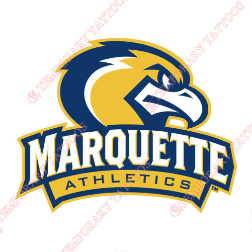 Marquette Golden Eagles Customize Temporary Tattoos Stickers NO.4968