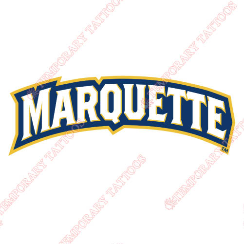 Marquette Golden Eagles Customize Temporary Tattoos Stickers NO.4970