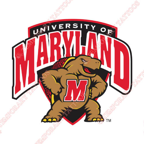 Maryland Terrapins Customize Temporary Tattoos Stickers NO.4989