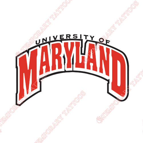 Maryland Terrapins Customize Temporary Tattoos Stickers NO.4990