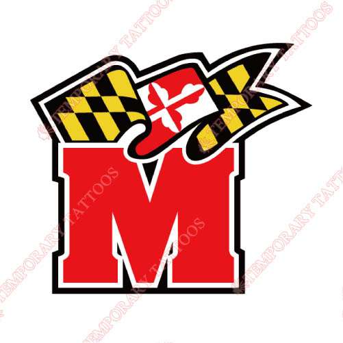 Maryland Terrapins Customize Temporary Tattoos Stickers NO.4994