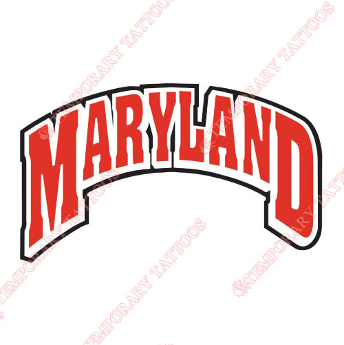 Maryland Terrapins Customize Temporary Tattoos Stickers NO.4997